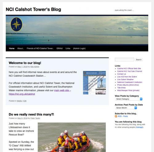 picture of the Blog Home Page