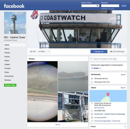 Picture of NCI Calshot Facebook Home Page