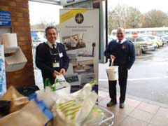 photo of collection at supermarket