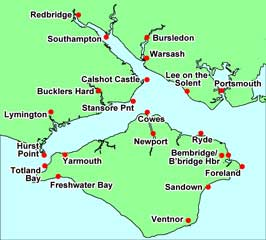Map of tide prediction sites